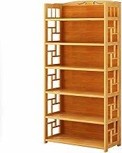 LUAN Bookcase Creative Bookshelf Simple Bamboo