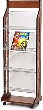 LUAN Bookcase Simple Bookshelf Newspaper Rack