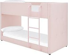 Lubana Fabric Bunk Bed Frame With Mattress Options