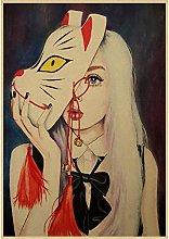 lubenwei Abstract Retro Art Decor Poster