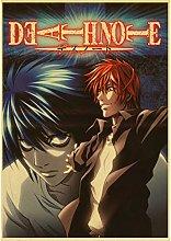 lubenwei Classic Anime Death Note Retro Picture