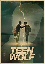 lubenwei Classic Movie Teen Wolf Poster Retro Art
