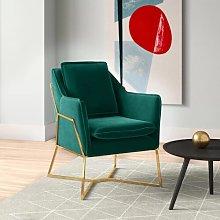 Luca Armchair Hykkon Upholstery Colour: Green