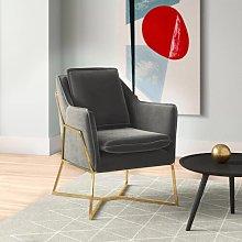 Luca Armchair Hykkon Upholstery Colour: Grey