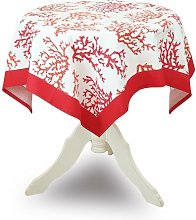 Luca Coral Tablecloth Breakwater Bay Colour: