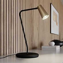 Lucande Angelina table lamp, brass gold