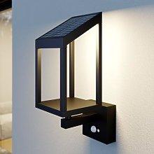 Lucande Timeo LED solar outdoor wall light