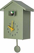 LucaSng 3 Colors Cuckoo Quartz Wall Clock Modern