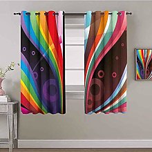 LucaSng Blackout Curtain Thermal Insulated -