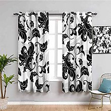 LucaSng Blackout Curtain Thermal Insulated - Black