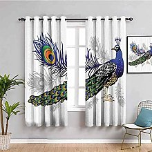 LucaSng Blackout Curtain Thermal Insulated - Blue