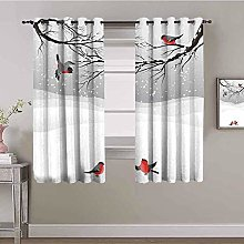 LucaSng Blackout Curtain Thermal Insulated - Gray