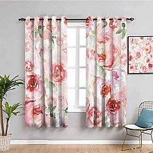 LucaSng Blackout Curtain Thermal Insulated - Pink