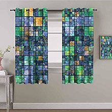 LucaSng Blackout Curtain Thermal Insulated - Pixel