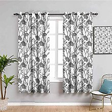 LucaSng Blackout Curtain Thermal Insulated - White