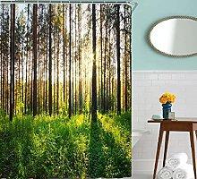 LucaSng green Shower Curtain Waterproof Polyester
