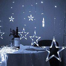 LucaSng LED Curtain Lights,12 Stars 138 LED