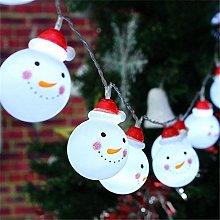 LucaSng LED Snowman String Starry Light for