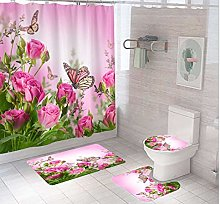 LucaSng Shower curtain set pattern Polyester