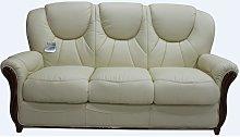 Lucca Genuine Italian Leather 3 Seater Sofa Settee