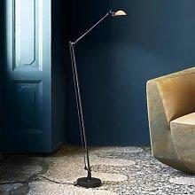 Luceplan Berenice floor lamp black, head yellow