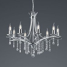 Lucerna chandelier with glass elements, eight-bulb