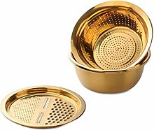 LUCHAO GraterKitchen Tool Stainless Steel Drain