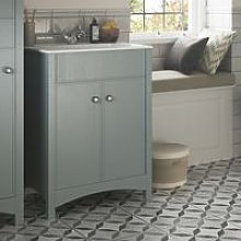 Lucia 610mm Traditional Vanity Unit And Basin Sea