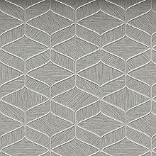 Luciano Textured Wallpaper Decor Silver Grey Vinyl