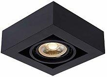Lucide Ceiling Spotlight, Aluminum, 12 W, Black