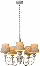 Lucide Chandelier, Metal, E14, 200 W, Taupe, White