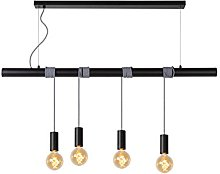 Lucide Pendant Light, Metal, E27, 240 W, Black