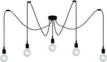 Lucide Pendant Light, Silicone, E27, 25 W, Black