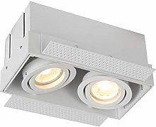 Lucide Recessed Spotlight, Aluminum, GU10, 10 W,
