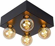 Lucide SURTUS - Flush Ceiling Light - E27 - Black