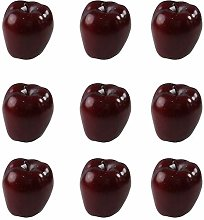 LUCKFY 9 Pcs Red Delicious Apples Set Fake Dark