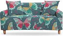 LucklyingBao Green Stretch Sofa Slipcovers For