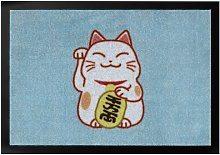 Lucky Cat Doormat Hanse Home