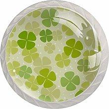 Lucky Clover Green White Drawer Handles Furniture