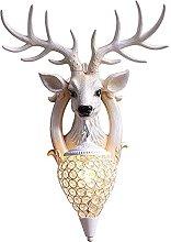 Lucky Deer Horn Wall lamp Nordic Living Room TV