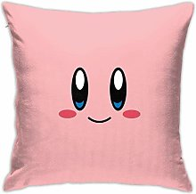Lucky girlfriend Kirby-Face Square Throw Pillow