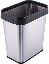 LUCKY Metal Wastebasket Trash Can For Bathroom,