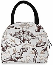 LUCKYEAH Animal Dinosaur Paw Print Lunch Bag for