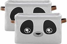 LUCKYEAH Animal Panda Face Storage Bin Organiser
