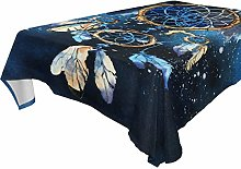 LUCKYEAH Dream Catcher Eagle Table Cloth Washable