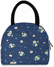 LUCKYEAH Flower Daisy Leaf Lunch Bag for Women