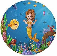 LUCKYEAH Place Mats Sea Mermaid Tropical Fish