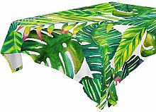 LUCKYEAH Tropical Palm Leaf Pattern Table Cloth