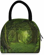 LUCKYEAH Tropical Tree Forest Lunch Bag for Women