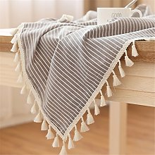 LUCKYHOUSEHOME Coffee and White Stripe Tassel